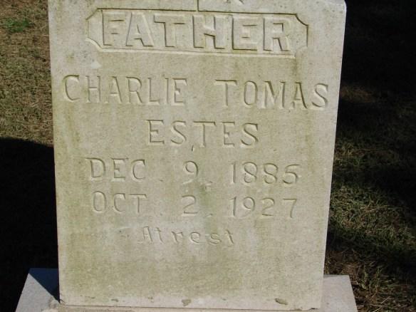 Charlie Tomas Estes stone
