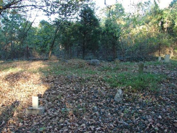 Estes area in Venable cemetery