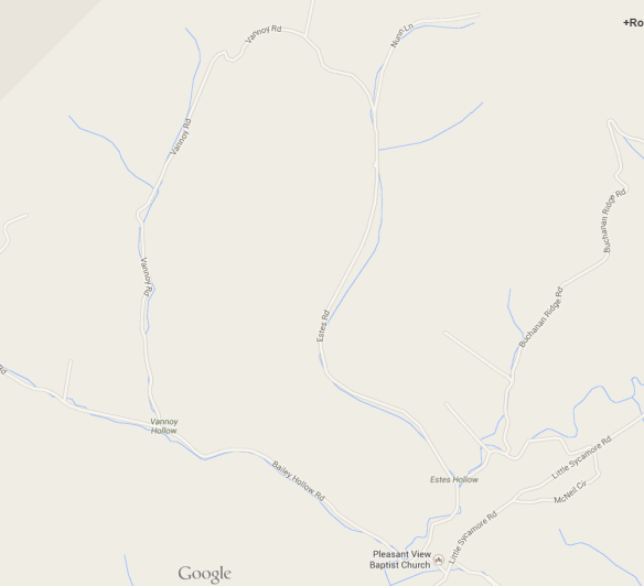 estes holler map