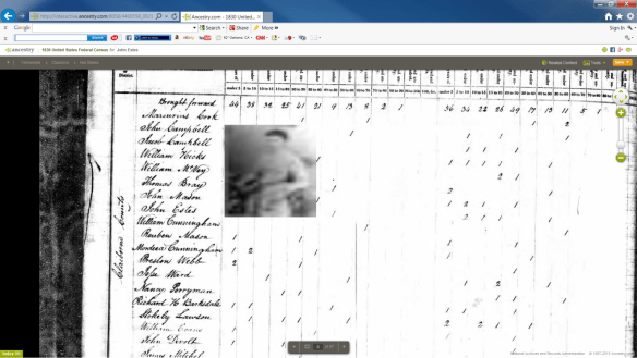 1830 Claiborne Census ghost picture