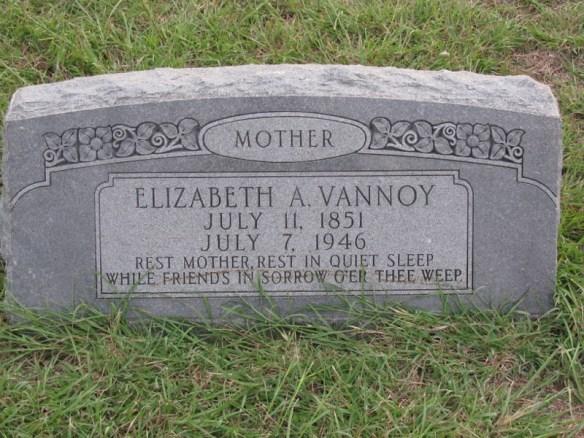 Elizabeth Estes Vannoy stone
