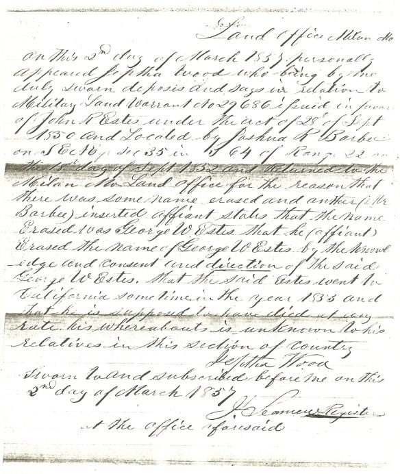 John R. Estes Barbee affidavit