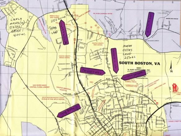 Estes South Boston map