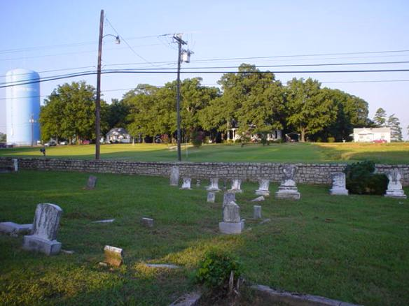Estes land from cemetery