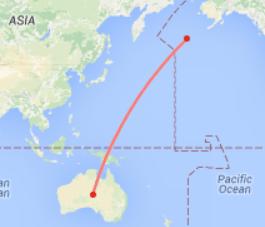 Australia to Aleutians
