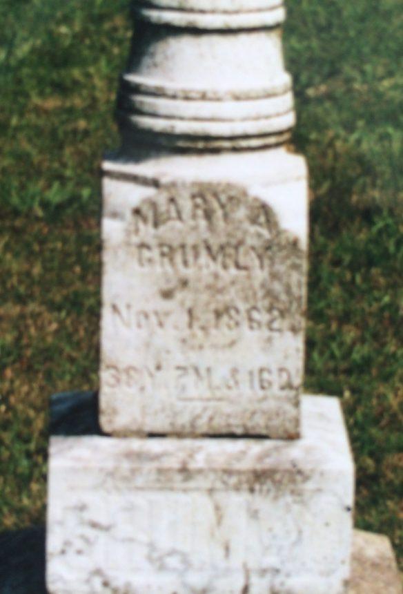 Mary Scofield Crumley stone