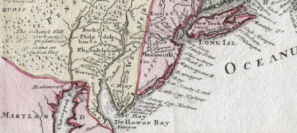 Delaware early map