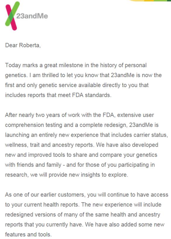FDA 23andMe 1