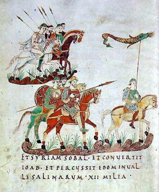 """""""Karolingische-reiterei-st-gallen-stiftsbibliothek 1-330x400"""". Licensed under Public Domain via Commons"""