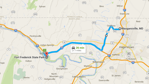 Maugansville to Fort Frederick