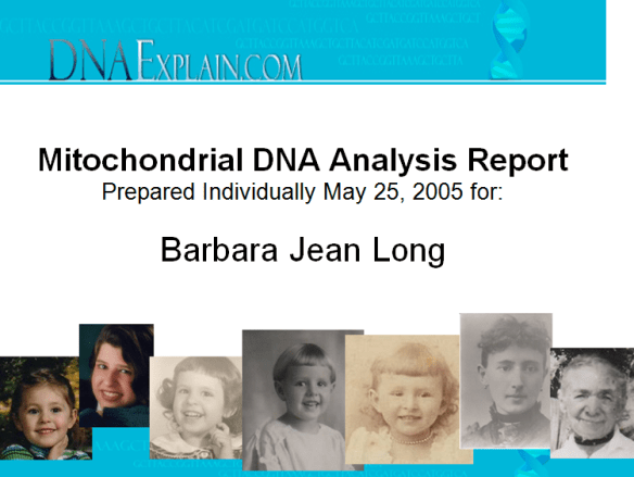 Mom dna report