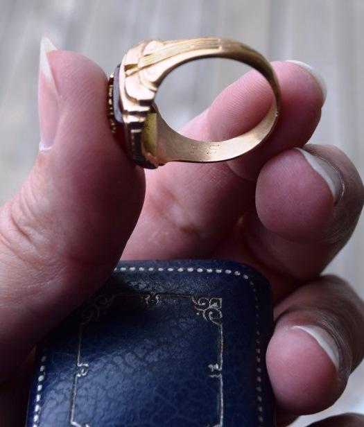 Frank's ring initials