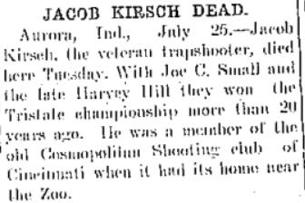 Jacob Kirsch death