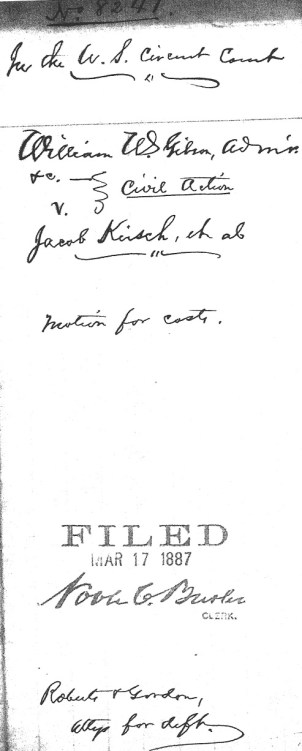Jacob Kirsch filing