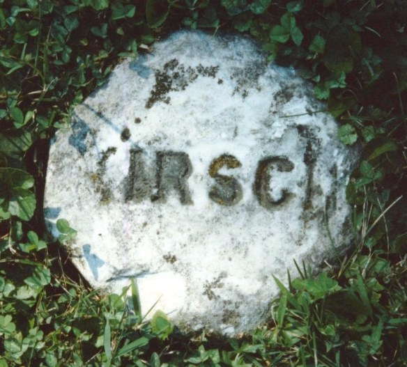 Kirsch footstone