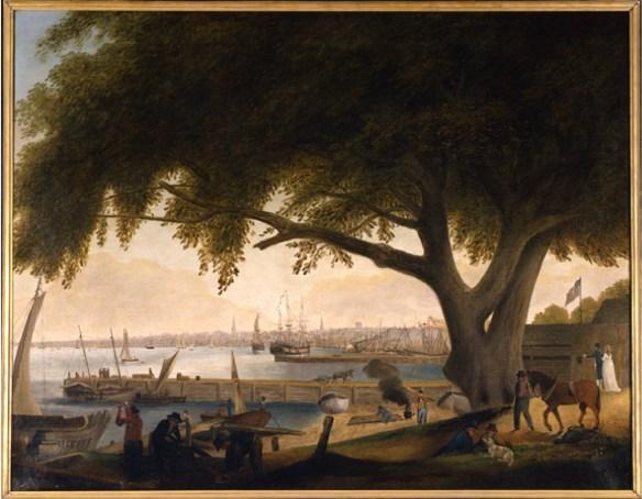 Philadelphia waterfront 1820