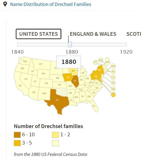 Drechsel 1880 names