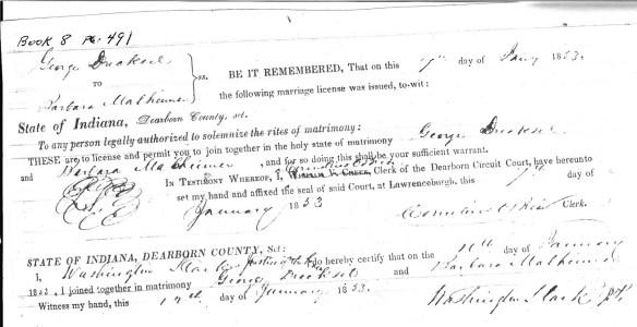 Drechsel marriage license crop