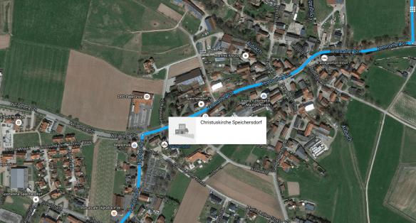 Speichersdorf church map