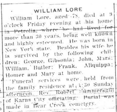 William lore obit