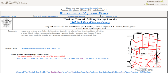 Warren county maps
