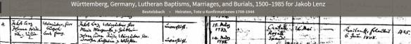 Lentz Jacob and Fredericka marriage