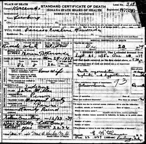 Margaret Lentz Evaline Miller Ferverda death
