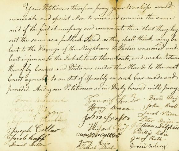 Daniel Miler 1775 Bedford petition 2
