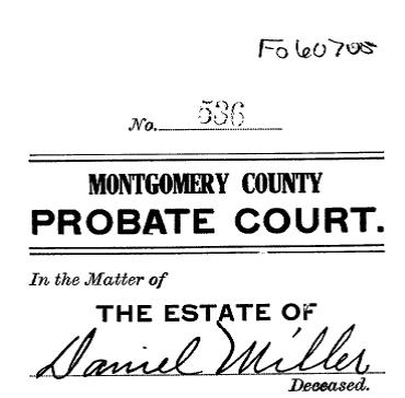 Daniel Miller estate 1