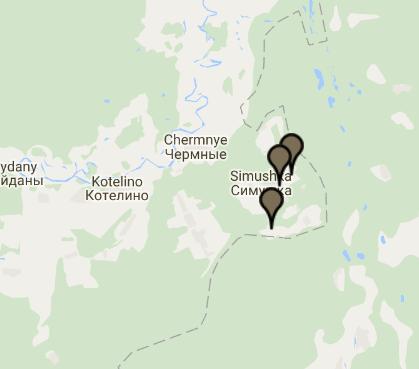 Daniel Miller project map locations