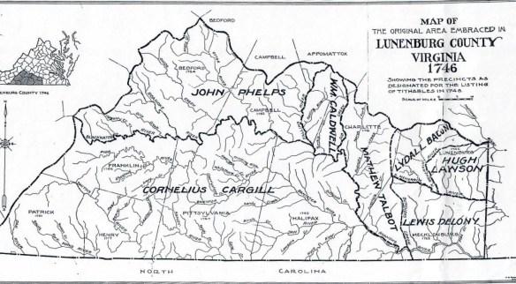 Michael McDowell Lunenburg 1746 tax map
