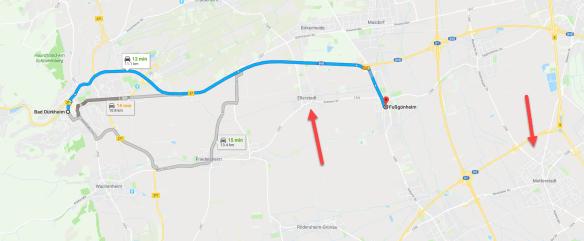 Bad Durkheim to Mutterstadt map