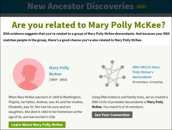 Ancestry NAD example