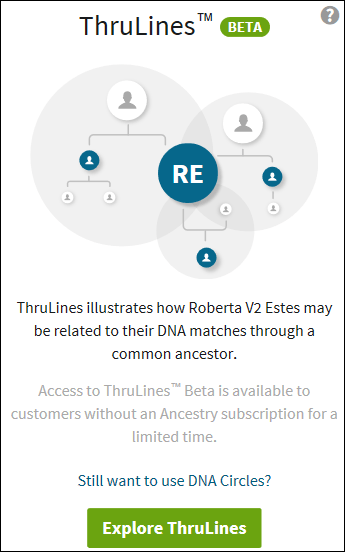 Ancestry Thrulines Circles