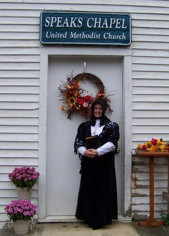 Lola Margaret at church door cropped