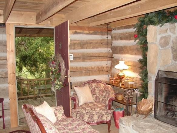 Nicholas Speaks cabin open door.jpg