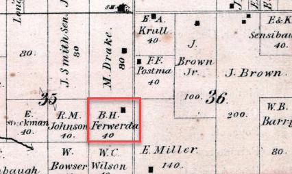 Bauke Ferwerda 1874 map