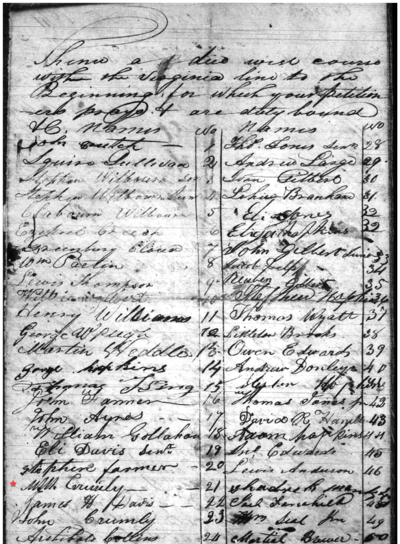 Hancock petition 1841 second