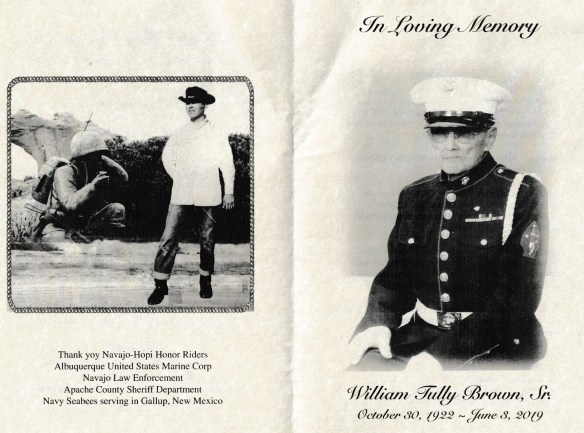William Brown funeral brochure