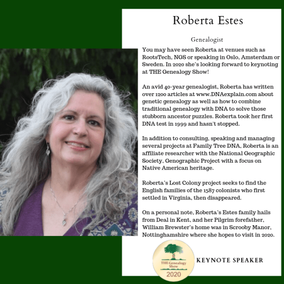 The Genealogy Show Roberta Estes keynote 2020.png