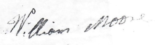 William Moore 1819 signature.jpg