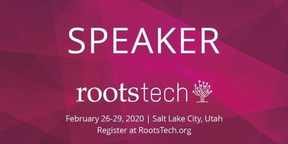 RootsTech 2020 speaker