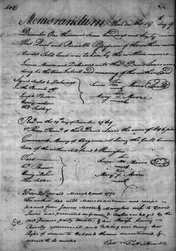 James Moore 1769 Deed Prince Edward page 3.png