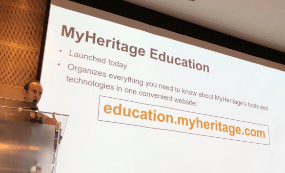 MyHeritage Live education