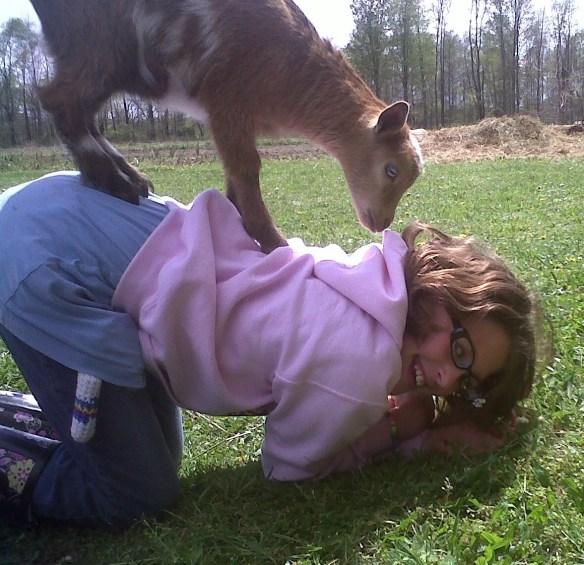 Phoebe and goat.jpg