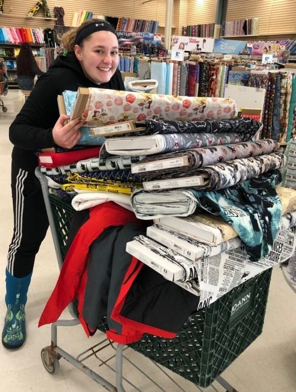 Phoebe fabric shopping.jpg