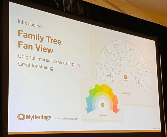 RootsTech 2020 MyHeritage fan tree