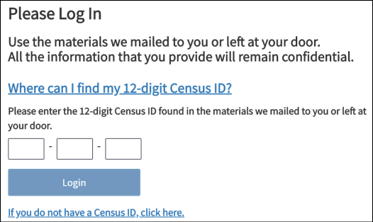 census 2020 login