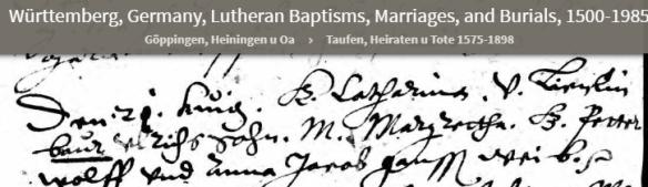 Catharina Baur birth
