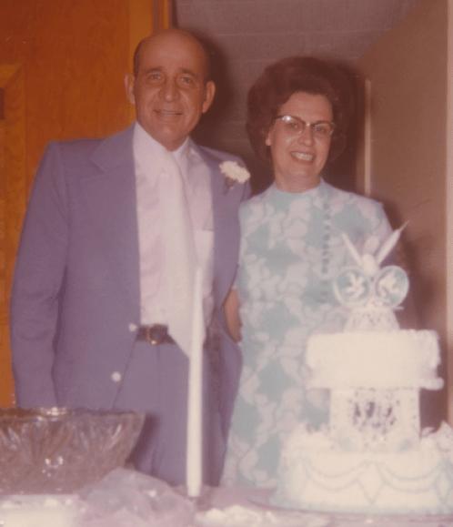 Dad Mom wedding